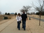 Kari and Tony take a walk